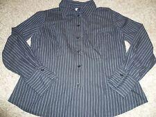 wunderschöne elegante DAMENBLUSE Damen Bluse schwarz gestreift Gr. 42 Langarm