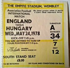 More details for england v hungary international match ticket wednesday may 24th 1978 wembley.