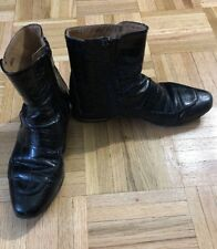 dfb9c6b2c3e Women's H&M Snakeskin Black Booties Size 6 Made In Portugal
