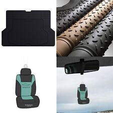 Trimmable Trunk Mat Cargo Liner for Auto Car Sedan SUV Van Black w/Air Freshener