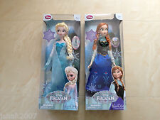 Nuevo Disney Store Exclusivo Princesa Congelada Elsa y Anna cantando Muñecas Nuevo * Para ver *