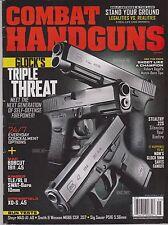 COMBAT HANDGUNS Magazine May 2014, Glock Triple Threat Kimbers Springfield XD-S