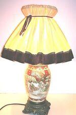 Antike Satsuma Tischlampe Japan ca. 1940   59cm