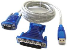 RS232 Serial Port DB9 DB25 To USB Adapter Cable