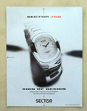 A902-Advertising Pubblicità-1999 - SECTOR 760 - OROLOGI