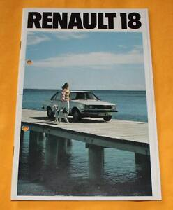 Renault 18 1979 Prospekt Brochure Catalogue Depliant Prospetto Catalog