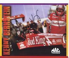 1998 Kenny Bernstein Budweiser Mac Tools Top Fuel Dragster SIGNED NHRA Card