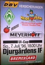 Spielplakat - 07.07.1996 - Werder Bremen vs. Djurgardens IF + UI-Cup + Sammler