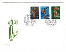 Liechtenstein  FDC Ersttagsbrief 1972 Wurzelschnitzereien Schädler Mi.Nr.567-69