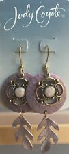 Jody Coyote Earrings JC0788 Lilac Collection QN226-01 gold plated purple flower