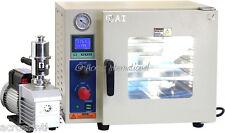 Ai Ulcsa 09 Cu Ft 110v Vacuum Oven 5 Sided Heating With 9 Cfm Vacuum Pump