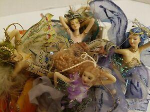 4 Show Stoppers FLORENCE MARANUK Rare limited Ed Hanging Fairy AKWA,REEVA,FEENA+
