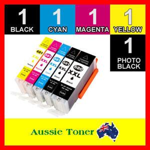 5x Ink Cartridges PGI-680 XXL CLI-681 for Canon TS6260 TS8260 TS9560 TR8560