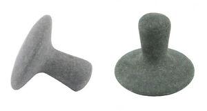 HOT STONE MASSAGE: Pair of Mushroom Shaped Basalt Stones, 5cm diameter