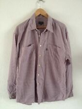 "Hope & Glory Men's Cotton Shirt Size 3 44"" Chest Small Red Check <R11817"