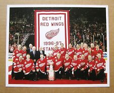 Detroit Red Wings 20th Anniversary 1997 Stanley Cup Team Photo - Joe Louis Arena