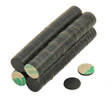 Adhesive 10mm dia x 1mm N42 Black Epoxy Magnet - 0.58kg Pull (South) (x200)