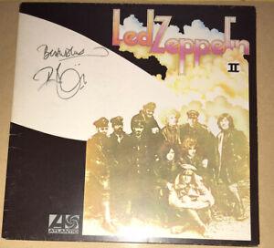 SIGNED ROBERT PLANT LED ZEPPELIN 2 ALBUM VINYL RARE AUTHENTIC JIMMY PAGE