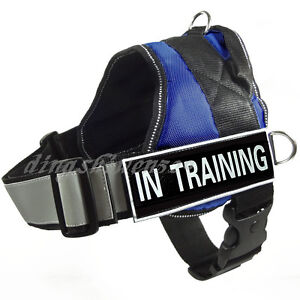 No Pull Service Dog Harness Removable label Patches Reflective Training Dog Vest