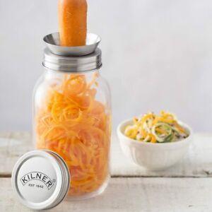 Kilner Glass Screw Top Spiraliser Jar Courgette Carrot Apple Squash Parsnip VGC