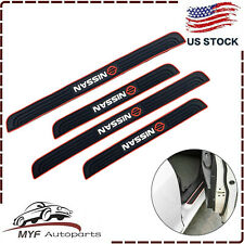4PCS Black Rubber Car Door Scuff Sill Cover Panel Step Protector For Nissan