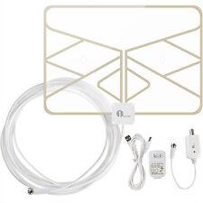 Digital Indoor Amplified Window HDTV TV Antenna 50 Miles Range 20FT Coax Cable