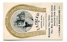Victorian Trade Card WIESBADEN TABLE SAUCE EN Pike & Co Boston MA Chow Chow