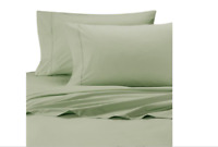 Wamsutta® Cool Touch Percale Cotton 350-thread Full Fitted Sheet in Green