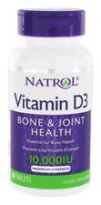 Natrol VITAMIN D3 10,000 IU Maximum Strength Bone Joint Health - 60 Tablets