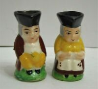 """Vintage Mini Man & Woman Toby Mugs Made In Japan 2"""" Tall Set Of 2"""