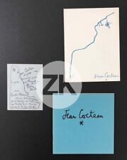 JEAN COCTEAU Chevaliers de la Table Ronde Dessins 3 Docs Expositions 1937/65/73