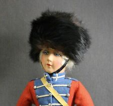 VINTAGE  MILITARY  GUARD  CELLULOID  DOLL  WITH  CLOTH  BODY