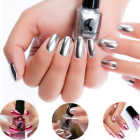 6ml Metallic Mirror Nail Polish Holographic Nail Varnish Long Lasting