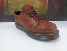 Doc Dr. Martens 8651 LaceUp Work Shoes Brown Leather Platform Women Size 8M