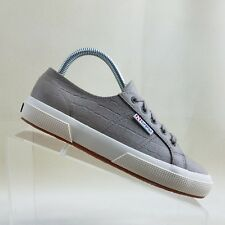 6defbab01db4 Superga Women s Size 7.5 Brown Embossed Croc Print Leather Mismatched Shoes   E35