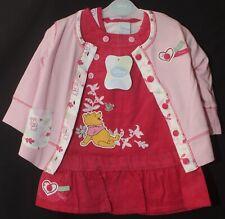 Baby Girl's Disney WINNIE THE POOH Dress, Cardigan & Top 3 Piece Set 0-18 Months