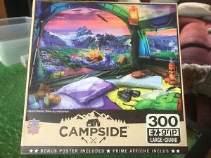 Masterpieces - 300 Ez-Grip/Large Piece Jigsaw - HIKERS DREAM (Campsite)