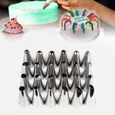 24Pcs Icing Piping Nozzles Tips Sugarcraft Pastry Cake Cupcake Decor Bake Tool