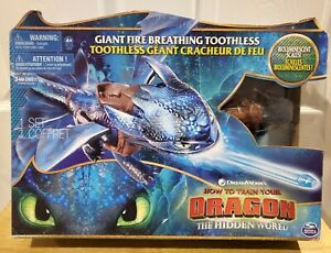 """Dreamworks Giant Fire Breathing 22"""" Toothless Dragon How to Train Your Dragon"""
