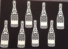 Die-Cut Champagne Bottle X (8 In Pack ) White