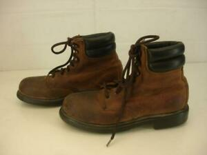 Womens 7 B M Red Wing 2369 Heritage Work Boots USA Made Lace-Up Steel Toe Brown