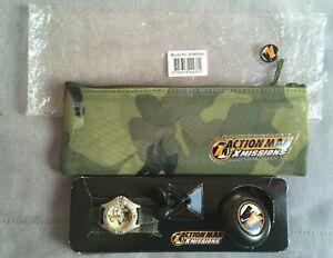 Action Man X Missions Watch, Earbud Headphones & Pencil Case Set