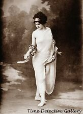 Woman Snake Charmer in a Toga - Historic Photo Print