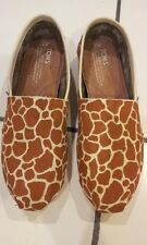 MADE TO ORDER - Women's Hand Painted Giraffe Print Toms
