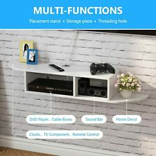 Tribesigns 2 Tier Modern Wall Mount Floating Shelf Tv Console for Home
