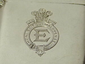 1924 Royal Gift from King Edward VIII Prince of Wales Silver Vesta Case to JGS ?