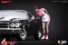 1:18 Waitress Girl  VERY RARE!!! figurine , NO CARS !! for diecast cars