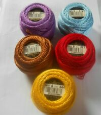 Pack of 5 Anchor Perle 5 Cotton 5g Skein Yellows Colours may vary