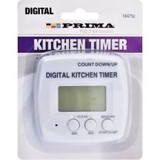 PRIMA DIGITAL KITCHEN TIMER COUNT UP DOWN MAGNETIC BACK BAKING COOKING COUNTDOWN