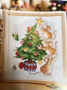 (X2) Margaret Sherry Mice Decorating Xmas Tree Christmas Cross Stitch Chart